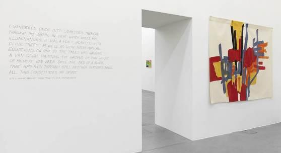 Etel Adnan La joie de vivre Ausstellungsansicht Museum Haus Konstruktiv, 2015 Foto: Stefan Altenburger
