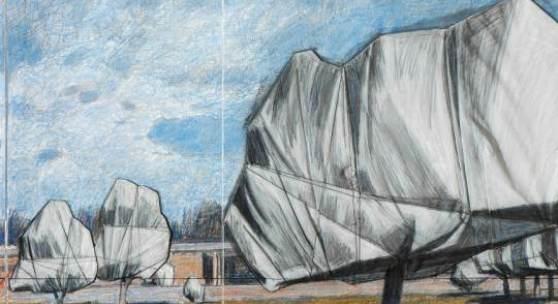 Verpackungskünstlers Christo «Wrapped Trees, Project for the Fondation Beyeler and Berower Park, Riehen, Switzerland» von 1998 wird zu einem Startpreis von 70.000 €