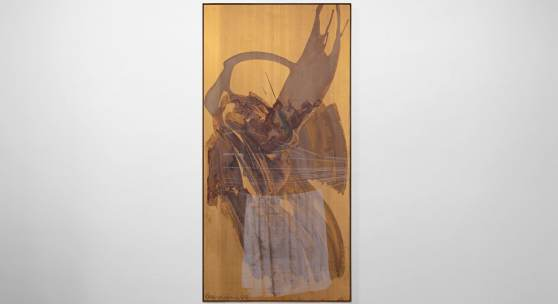 Robert Rauschenberg's metal painting Washed Ghost (Borealis) (1989)