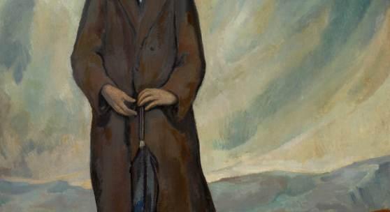 Lot 7 Diego Rivera Retrato De Un Español (Portrait Of A Spaniard) signed lower right oil on canvas 78 1/2 by 65 in. Painted in 1912. Estimate $3/5 million © 2017 Banco de México Diego Rivera Frida Kahlo Museums Trust, Mexico, D.F. / Artists Righ
