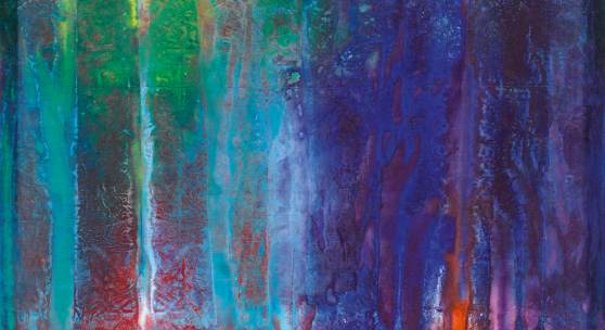 Lot 35 Sam Gilliam Untitled signed and dated 68 on the reverse acrylic on canvas 62 by 66 1/2 in. 157.5 by 168.9 cm. Estimate $200/300,000