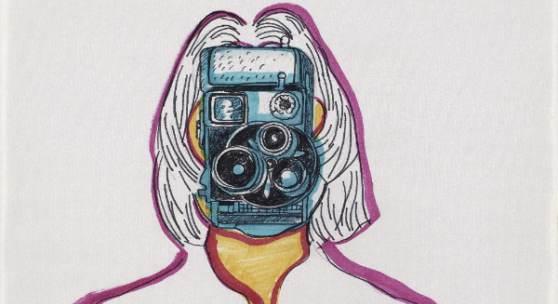 Maria Lassnig, Selfportrait, 1971 (Zeichnung für Animationsfilm) © Maria Lassnig Stiftung I Foto: Roland Krauss