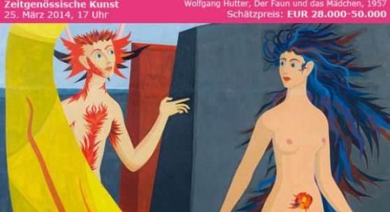 Kat. 0103 Wolfgang Hutter * Der Faun und das Mädchen, 1957 Schätzpreis € 28.000 - 50.000