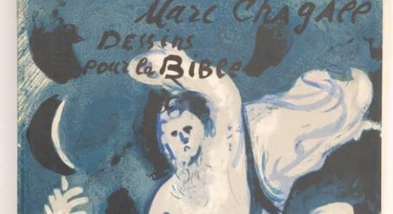 """Lithografien von Marc Chagall (1887 –Zu den Besonderheiten der Alten und Neuen Grafi1985) """"Dessins Pour La Bible"""" und """"Kleines Atelier"""""""