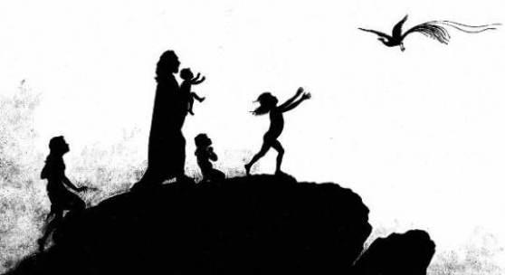 Per aspera ad astra, 1892 (Tafel 1 von 34 Tafeln) Karl Wilhelm Diefenbach unter Mithilfe seines Schülers Fidus Mischtechnik auf Leinwand © Stadtmuseum Hadamar