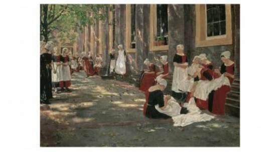 Max Liebermann (1847-1935) Freistunde im Amsterdamer Waisenhaus, 1881/82  Copyright © 2010 Städel Museum.