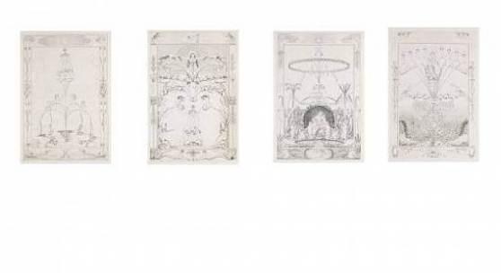 Philipp Otto Runge: Die vier Tageszeiten (Die Zeiten). Folge von 4 Bll. Kupferstichen, 1803-05. Ca. 71 x 47,5 cm (2.9 x 18.7 in). Erste Ausgabe. Schätzpreis: € 40.000-60.000
