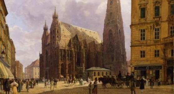 Der Stephansdom in Wien, 1834 Rudolf von Alt Öl auf Leinwand Copyright: Wien Museum