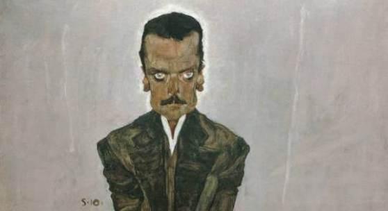 Egon Schiele  Der Verleger Eduard Kosmack, 1910  Öl auf Leinwand  99,8 x 99,5 cm  Belvedere, Wien  © Belvedere Wien