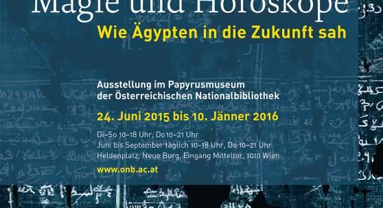 """Plakat zur Ausstellung """"Orakelsprüche, Magie und Horoskope"""""""