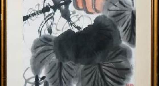 Los 0478: Qi Baishi, Kürbisse und Libelle, China um 1940/50  Limit: € 7000 Zuschlag: € 60000
