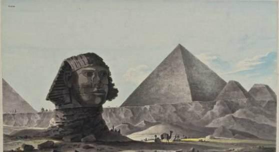 Faszination Ägypten - Giza. Sphinx und Cheops Pyramide von Südosten