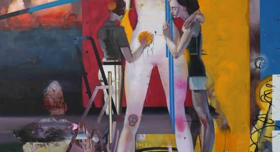 Rayk Goetze: Großfürstin. 2019. Öl und Acryl auf Leinwand. 240 x 200 cm.