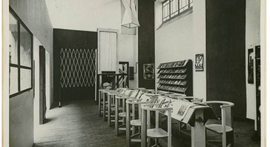 Arbeiterclub, Exposition Internationale des Arts Décoratifs et Industriels Modernes, Paris, 1925, zur Dokumentation fotografiert von Alexander Rodtschenko