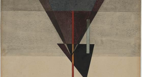 Wassily Kandinsky: Abstieg, 1925, Aquarell und Gouache über Tusche auf Papier, 48 x 32 cm, bez. u. l. im Kreis: K / 25 | verso bez.: No 195/1925 Abstieg, Foto: Stiftung Dome und Schlösser in Sachsen-Anhalt