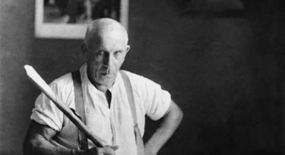 © Adolf Wölfli-Stiftung, Kunstmuseum Bern Autor:  Beschreibung: Adolf Wölfli mit Papiertrompete, um 1926 / Adolf Wölfli with paper-trumpet, around 1926