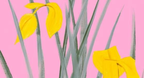 Alex Katz Yellow Flags 3