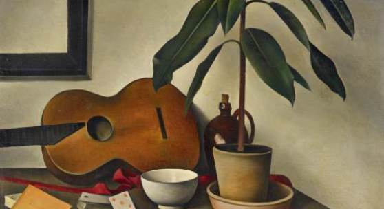 """""""Stillleben mit Gitarre"""" (1926) von Alexander Kanoldt (c) Van Ham"""