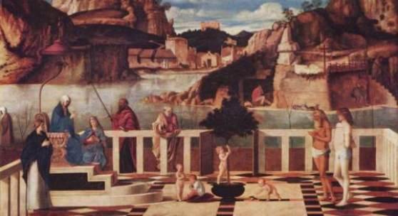 """Renaissance Kunst, Malerei- Venedig; Bellini Giovanni Allegorie des Fegefeuers Renaissance Das Gemälde """"Allegorie des Fegefeuers"""" von Giovanni Bellini als hochwertige, handgemalte Ölgemälde-Replikation. Quelle: www.oel-bild.de"""