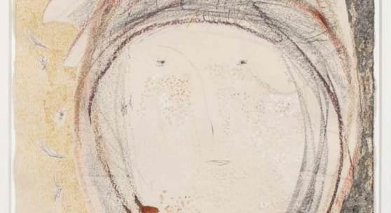 Altenbourg, Gerhard.  1926 Rödichen-Schnepfenthal - Meißen 1989 Sommersprößchen, Sommersprößlein. Aquarell, Kohle und Farbkreide. Sign. und dat. 1989. 59,5 x 42 cm. Verso bet. Aufrufpreis:3.500 EUR