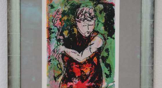 Bild 37: Armin Mueller-Stahl, Bühne frei, 2016,Farbsiebdruck, Ex.:33/180; 40&49,5 cm. 330 €, mit Rahmen silber/schwarz, Passepartout und Mirogardglas UV70= 600 €.