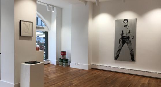 Warhol-Elvis in der Galerie Hotel Mond