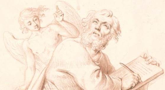 Daniel Nikolaus Chodowiecki, Der Evangelist Matthäus (Entwurf für eine Skulptur der Bauplastik des Französischen Doms) © Akademie der Künste, Kunstsammlung