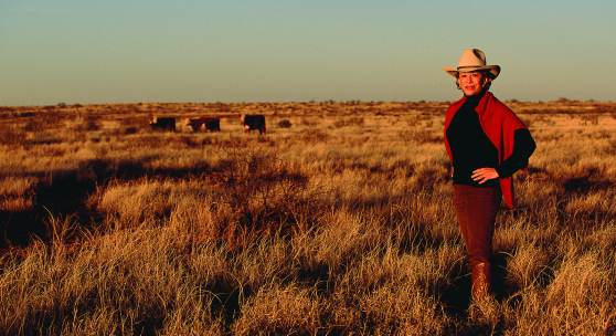 Anne Marion on her Four Sixes Ranch in Texas