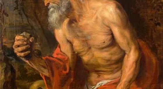 ANTHONY VAN DYCK Der heilige Hieronymus in der Wildnis. Öl auf Holz. 47,1 × 40,4 cm. Ergebnis: CHF 2,44 Mio.