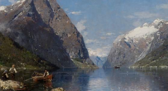 Anton G. Rasmussen Ein norwegischer Fjord im Sommer, Museum Kunst der Westküste, Alkersum/Föhr, Foto: Lukas Spörl