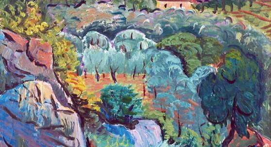 Anton MAHRINGER, Dalmatinisches Dorf I, 1934, Foto: Graphisches Atelier Neumann, Wien