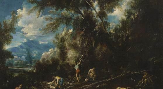 Antonio Francesco Peruzzini (1643 – 1724) mit Beteiligung Große Landschaft mit Figurenstaffage | Öl auf Leinwand | 90x115cm Ehemals Sammlung Arthur Maier, Karlsbad Schätzpreis: 5.000 – 8.000 Euro