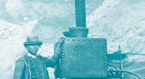 """Arbeitslok """"Sterzing"""", verwendet beim Bau der Brennerbahn, 1864-67 TLMF, Historische Sammlungen  © TLM"""
