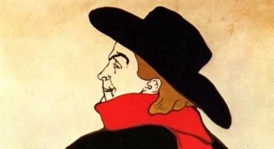 "Toulouse Lautrec, Henri de  Aristide Bruant dans son cabaret Impressionismus   Das Gemälde ""Aristide Bruant dans son cabaret"" von Henri de Toulouse Lautrec als hochwertige, handgemalte Ölgemälde-Replikation."