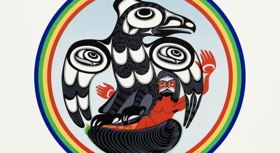 Art Thompson, Kwaht yaht is born, 1989, Nuu-chah-nulth, Kanada, Foto: Axel Killian
