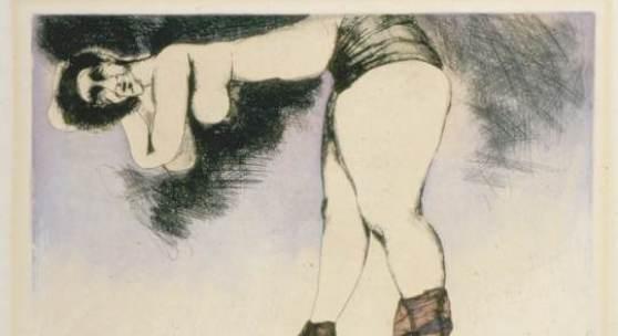"""Adolf Frohner , Die Todeswolke, aus dem Zyklus """"Bindungen"""", 1974, Radierung"""