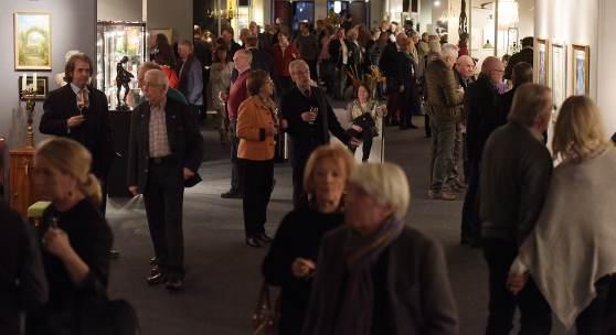 """Insgesamt rund 7.500 Besucherinnen und Besucher kamen an den fünf Messetagen zur renommierten Kunstschau """"Art & Antik""""."""
