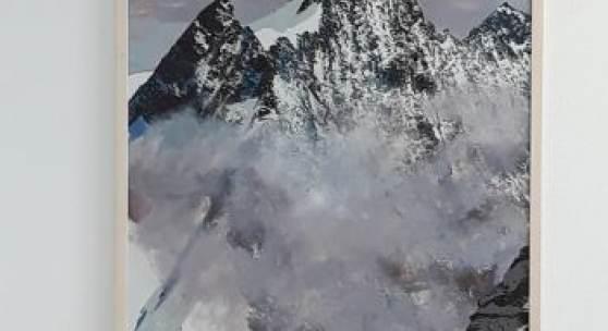 Bild 39: Leander Kresse, Tobler, Mischtechnik über Siebdruck, 2013; Unikatäres Exemplar aus einer Auflage von 30.; 70&100 cm. 1.600 €, gerahmt in hellem Lindenvollholz mit Mirogardglas UV70 = 1.850 €