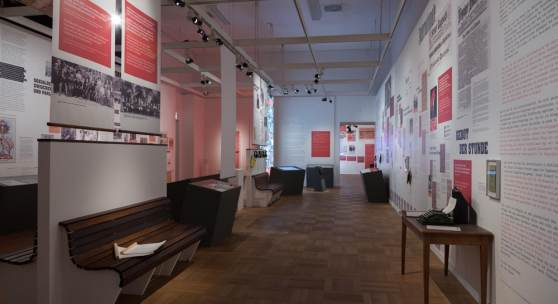 """Blick in die Sonderausstellung """"Revolutionär und Ministerpräsident – Kurt Eisner (1867-1919)"""" des Münchner Stadtmuseums © Münchner Stadtmuseum"""