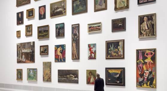 """Ausstellungsansicht """"Provenienzen. Kunstwerke wandern"""", Berlinische Galerie, Foto: © Roman März"""
