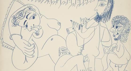 Abbildung: Pablo Picasso, Nu Couché et Musiciens, 1967. Gekauft 2018 um € 295.000