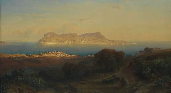 ANSICHT VON GIBRALTAR  Fritz Bamberger (1814-1873) Ansicht von Gibraltar 1863 Öl auf Leinwand 100,0 x 147,0 cm © Bayerische Staatsgemäldesammlungen München – Sammlung Schack