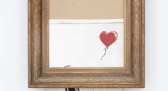 Banksy's Love is in the Bin, 2018