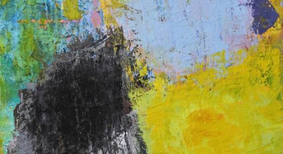 """Bild 34: Barbara Knoglinger-Janoth, sunrise - aus der Serie """"oh Du mein Österreich ! """", Öl auf Hartfaser, 30&21 cm, 2020. 450 € in Vollholzschattenfugenrahmen."""