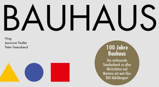 Jeannine Fiedler & Peter Feierabend (Hrsg.) Bauhaus  640 Seiten, Hardcover mit Schutzumschlag. h.f.ullmann  Über 800 Abbildungen durchgehend vierfarbig  ISBN 978-3-8480-1104-9 € 49,90