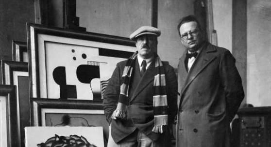 Willi Baumeister mit Fernand Lèger, 1930