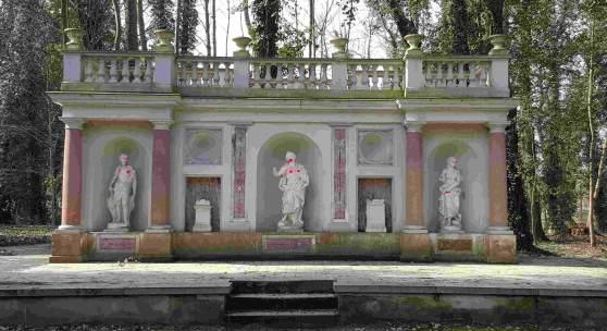 Vandalismus im Schlosspark von Blankensee © Deutsche Stiftung Denkmalschutz/Lehmphul