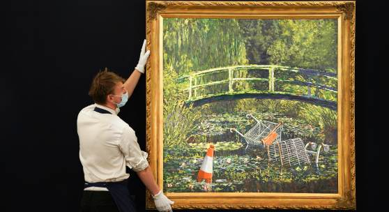 BANKSY'S CONTEMPORARY TAKE ON CLAUDE MONET'S MASTERPIECE
