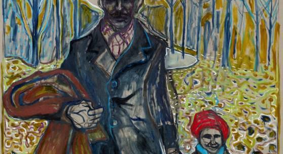 Billy Childish walking in gods butie version, 2013 Öl und Kohle auf Leinen 274,5 x 183 cm © Billy Childish, Carl Freedman London, Lehmann Maupin New York, neugerriemschneider Berlin