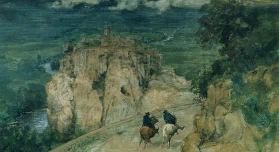 Hans Thoma, Erinnerung an Orte, 1874, Sammlung Jan und Friederike Baechle. Foto: Museum Wiesbaden / Bernd Fickert